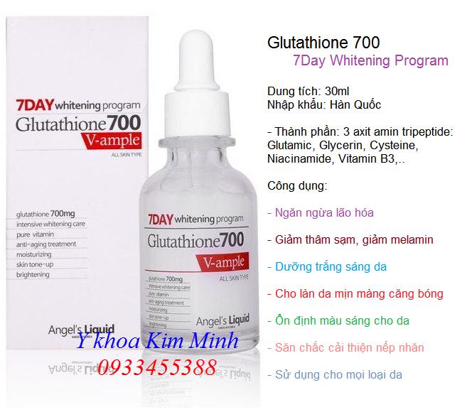 Huyet thanh Glutathine 700 V-Ample 7Day Whitening Program Korea 30ml - Y Khoa Kim Minh