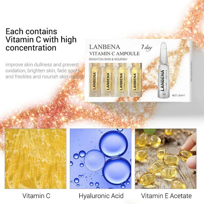 Huyết thanh Vitamin C Ampoule của hãng Lanbena chuyên trị thâm nám, làm trắng hồng da - Y khoa Kim Minh