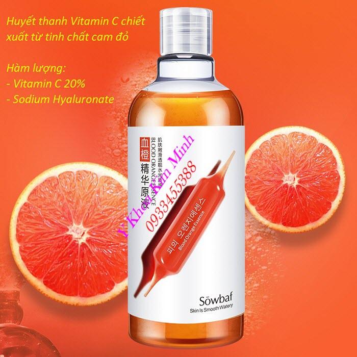 Huyết thanh vitamin cam đỏ chuyên dùng nuôi dưỡng tái tạo trắng sáng da dùng trong các liệu trình chăm sóc da - Y khoa Kim Minh
