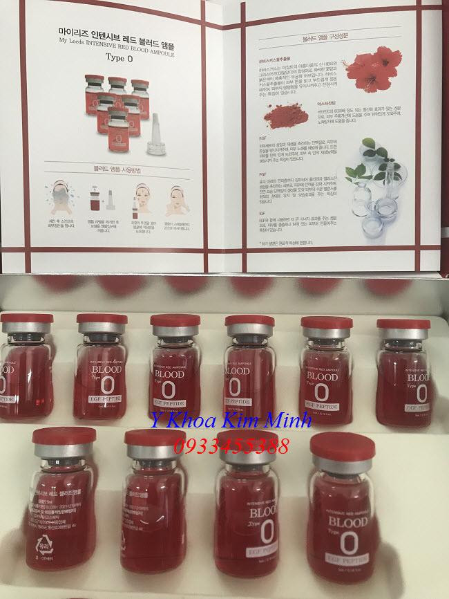 Hình ảnh intensive red ampoule blood type O - Y Khoa Kim Minh