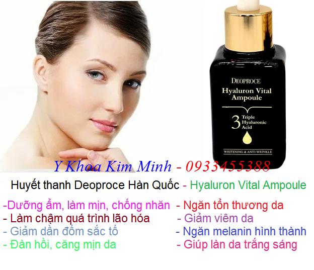 Huyết thanh dưỡng trắng da Hàn Quốc Deoproce 3 tác dụng bán tại Y khoa Kim Minh