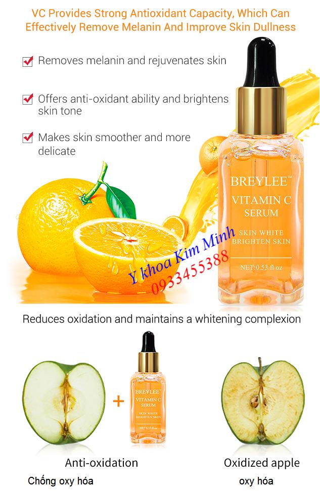Tinh chất dưỡng trắng da serum vitamin C Breylee bán tại Tp Hồ Chí Minh - Y Khoa Kim Minh