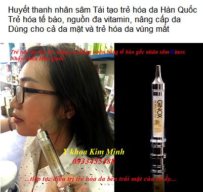 Huyết thanh nhân sâm Hàn Quốc Ginox chuyên dưỡng sau đi máy HIFU giúp nâng cơ trẻ hóa da mặt - Y Khoa Kim MInh