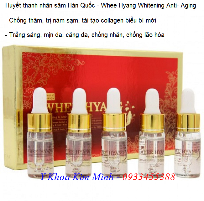 Huyết thanh nhân sâm Hàn Quốc Deoproce Whee Hyang Whitening Anti-Aging - Y Khoa Kim Minh