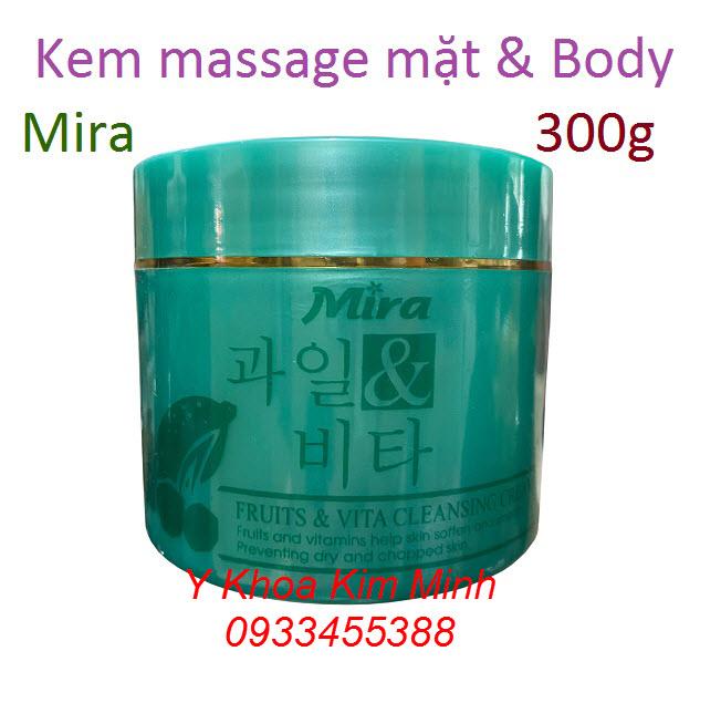 Kem massage Mira nhập khẩu Hàn Quốc dùng cho spa và thẩm mỹ viện