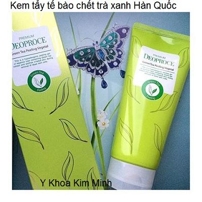 Kem tay te bao chet da mat tra xanh Han Quoc Deoproce - Y khoa Kim Minh