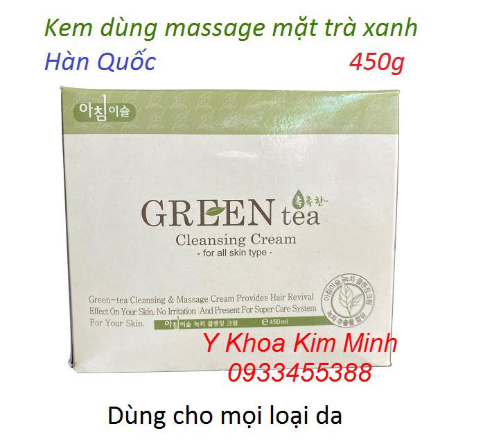 Kem massage mặt trà xanh Hàn Quốc trọng lượng 450g