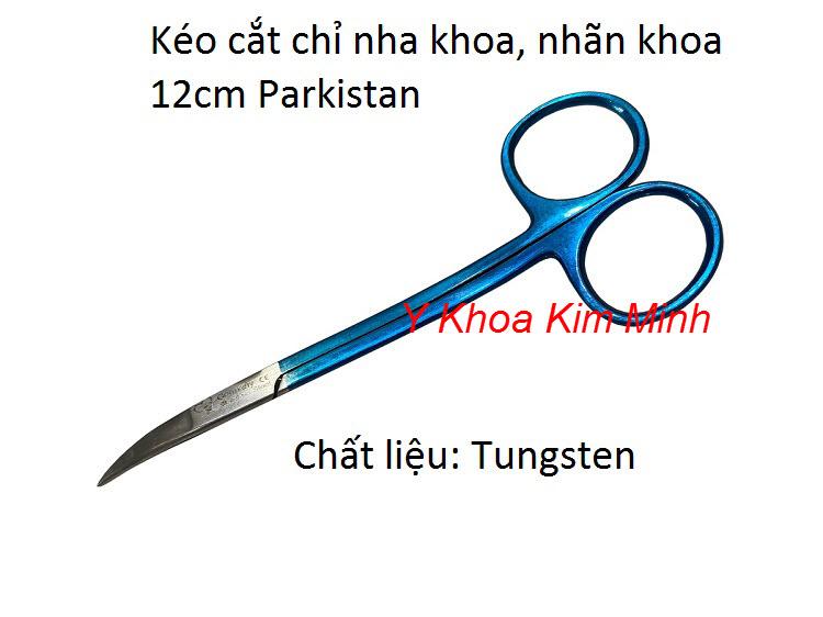 Kéo cắt chỉ cong nhọn 12cm dùng cho nha khoa nhan khoa chất liệu tungsten