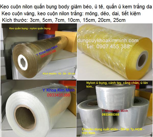 Keo cuộn nilon dùng trong thẩm mỹ viện spa quấn giảm béo, hấp trắng, ủ kem tê - Y khoa Kim Minh