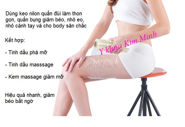 Keo cuộn nilon quấn bụng giảm béo, thon gọn body - Y khoa Kim Minh