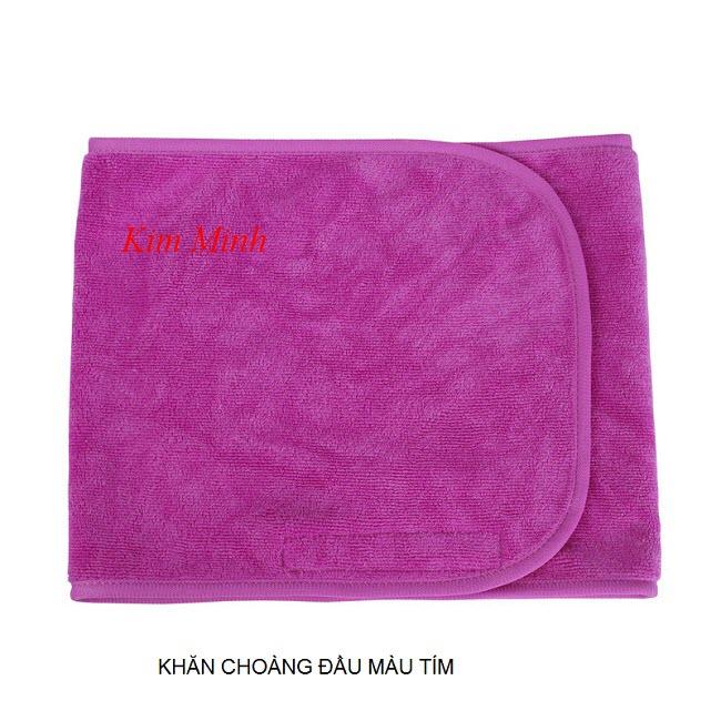 Khăn băng đô choàng đầu màu tím bản rộng - Y khoa Kim Minh 0933455388