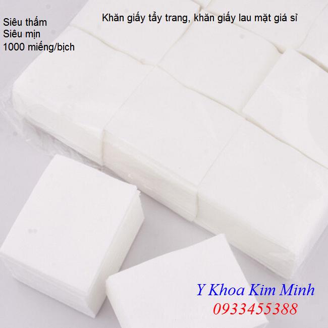 Bông giấy tẩy trang, khăn giấy lau mặt spa giá sỉ bán tại Tp Hồ Chí Minh - Y khoa Kim Minh 0933455388