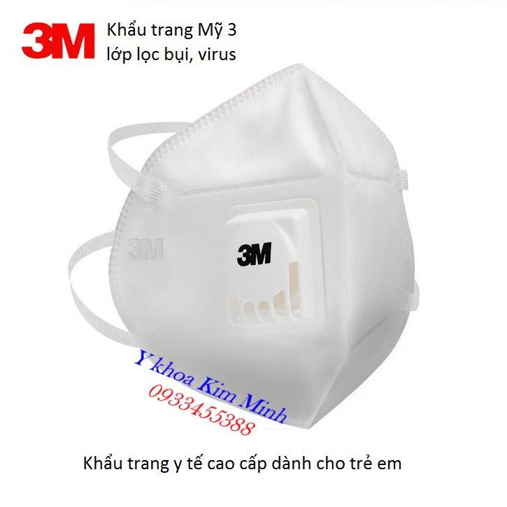 Khẩu trang trẻ em 3M 9560 có lọc bụi PM2.5 màu trắng - Y Khoa Kim Minh