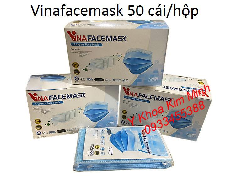 Khẩu trang y tế kháng khuẩn 4 lớp Vinafacemask - Y Khoa Kim Minh