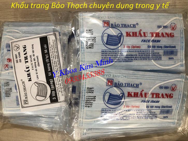 Khẩu trang Bảo Thạch, khẩu trang y tế đã tiệt trùng chuyên dụng trong y tế - Y Khoa Kim Minh