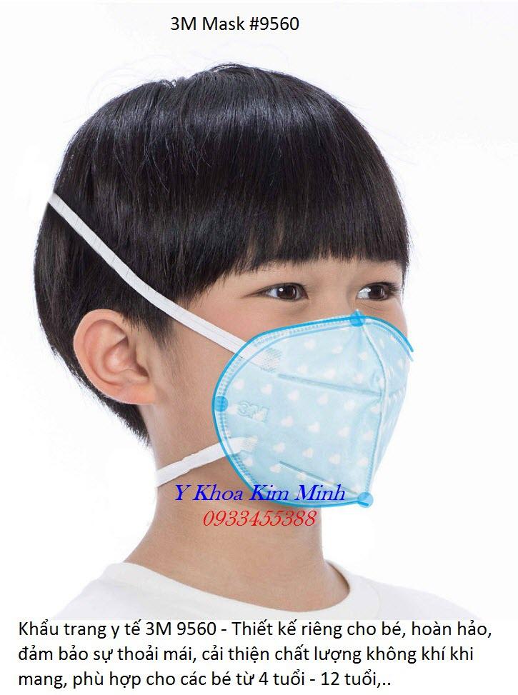 Khẩu trang y tế dành cho trẻ em 3M 9560 - Y Khoa Kim Minh