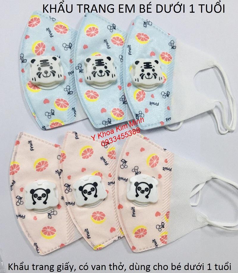 Khẩu trang em bé dùng 1 lần bán giá sỉ tại Y Khoa Kim Minh