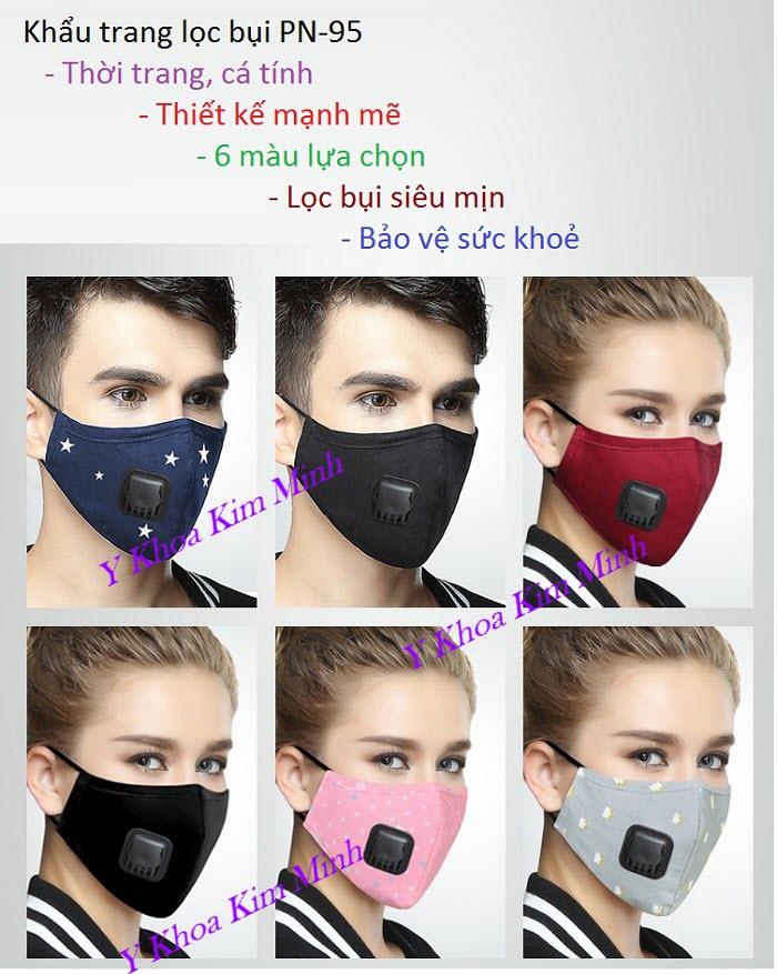 Khẩu trang lọc bụi mịn PM2.5 có lõi lọc mã số PN-95 bán giá sỉ tại Y Khoa Kim Minh
