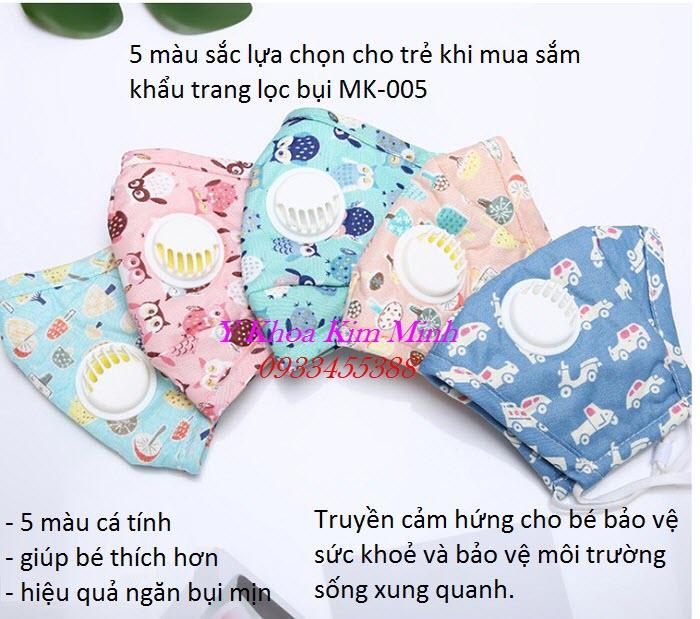 Khẩu trang y tế trẻ em có van thở lọc bụi mịn bán giá sỉ tại Tp Hồ Chí Minh - Y Khoa Kim Minh