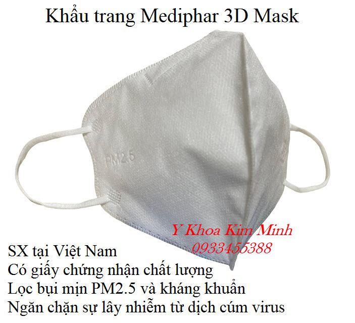 Đại lý cung cấp khẩu trang y tế 3D Mask Mebiphar giá sỉ tại Tp HCM - Y khoa Kim Minh