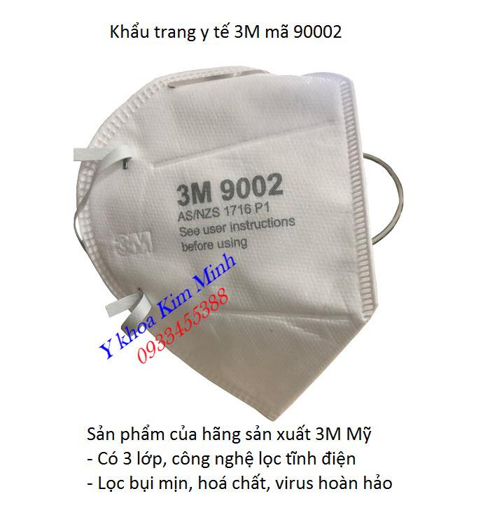 3M 9002 là sự lựa chọn tốt cho bạn khi mua khẩu trang y tế chính hãng của Mỹ - Y khoa Kim Minh