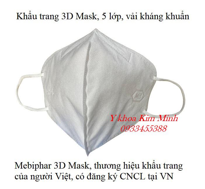 Cung cấp giá sỉ khẩu trang người lớn và trẻ em của công ty Mebiphar 3D Mask - Y khoa Kim Minh