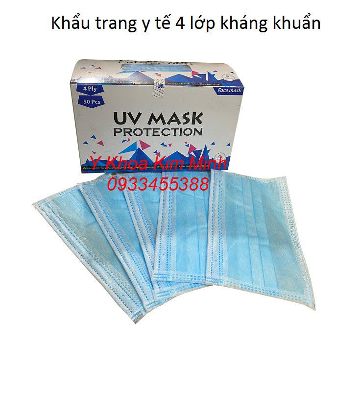 Khẩu trang y tế 4 lớp kháng khuẩn UV Mask giá rẻ