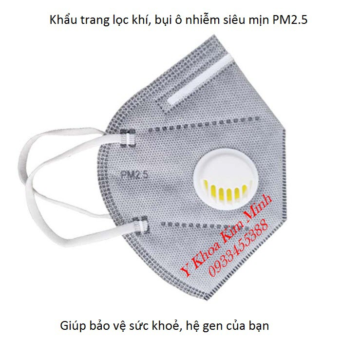 Khẩu trang y tế 6 lớp chuyên lọc bụi siêu mịn PM2.5 bán giá sỉ tại Y khoa Kim Minh