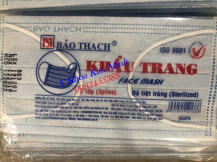 Khẩu trang y tế tiệt trùng Bảo Thạch bán ở đâu tại Tp Hồ Chí Minh - Y Khoa Kim Minh