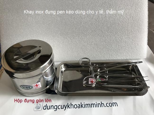 Khay inox, hop dung gon dung trong y te - Y Khoa Kim Mnh