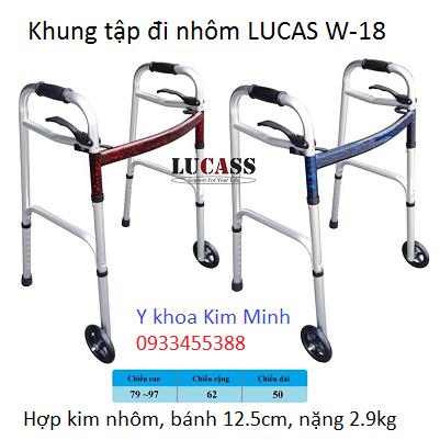 Khung tap di nhôm Lucas W-18 nặng 2.8kg - Y khoa Kim Minh