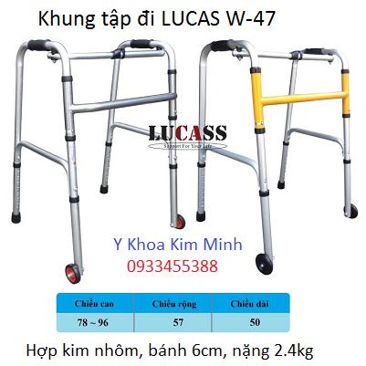 Khung tap di nhom Lucas W-47 nặng 2.4kg - Y Khoa Kim Minh