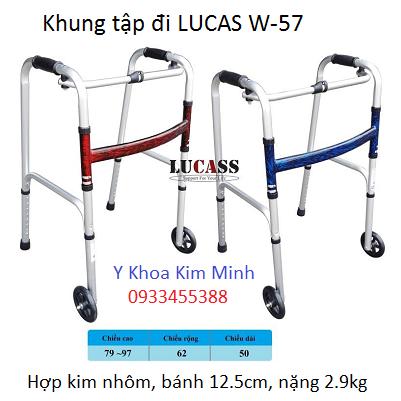 Khung tap di bang nhom Lucas W-57 nặng 2.9kg - Y Khoa Kim Minh