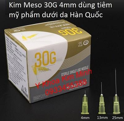 Kim Meso 30G 4mm Hàn Quốc tiêm dưỡng chất dưới da - Y khoa kim Minh