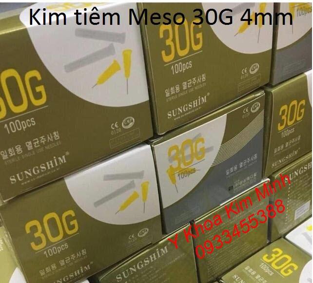 Kim meso 30G dùng tiêm mỹ phẩm dài 4mm - Y Khoa Kim Minh