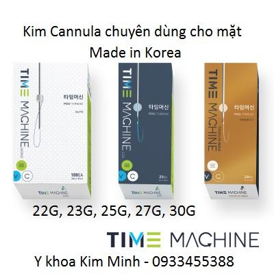 Kim cannula Time Machine 22G, 23G, 25G, 27G, 30 G dài 38mm Hàn Quốc bán tại Tp Hồ Chí Minh - Y Khoa Kim Minh