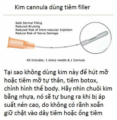 Kim cannula dùng tiêm filler mặt - Y khoa Kim Minh