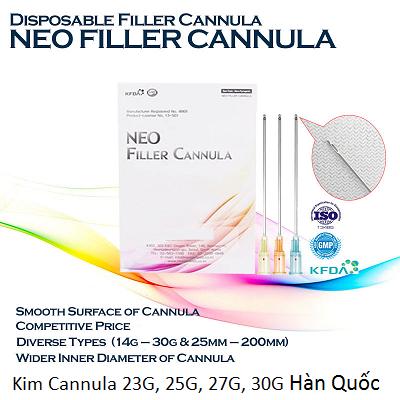 Kim Cannula tiêm Filler 19G, 23G, 25G, 27G, 30G Hàn Quốc- Y khoa Kim Minh 093455388