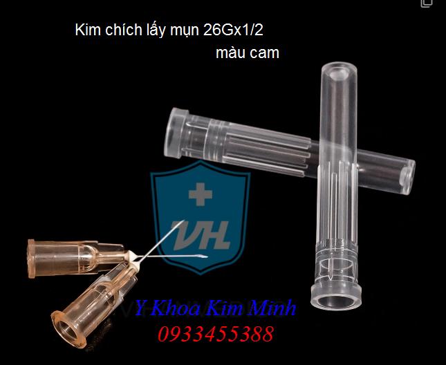 Kim chích lấy mụn 26Gx1/2 màu cam - Y khoa Kim Minh 0933455388