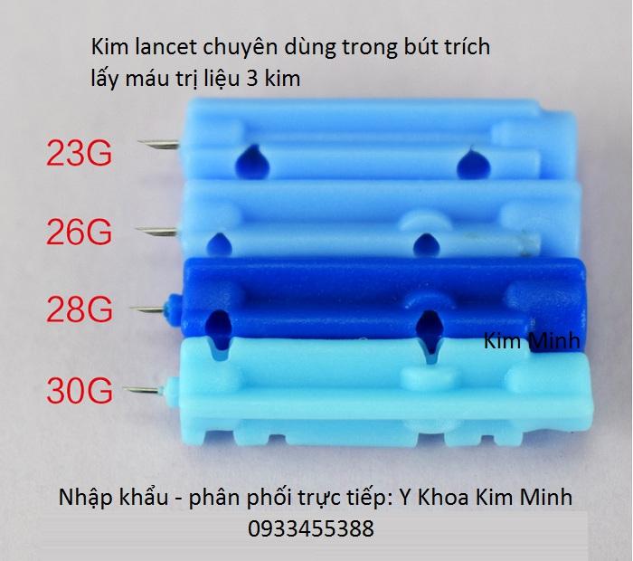 Kim lancet dùng trong bút trích máu loại 3 kim - Y Khoa Kim Minh