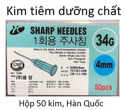 Kim tiêm dưỡng chất 33G 4mm, hộp 50 cây nhập khẩu Hàn Quốc - Y khoa Kim Minh
