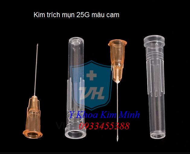 Kim chích lấy mụn 25G màu cam - Y khoa Kim Minh 0933455388