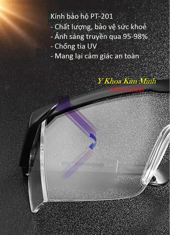 Mang mắt kính bảo hộ PT-201 thường xuyên giúp bạn an toàn hơn trong mùa dịch cúm và ngăn truyền nhiễm - Y Khoa Kim Minh