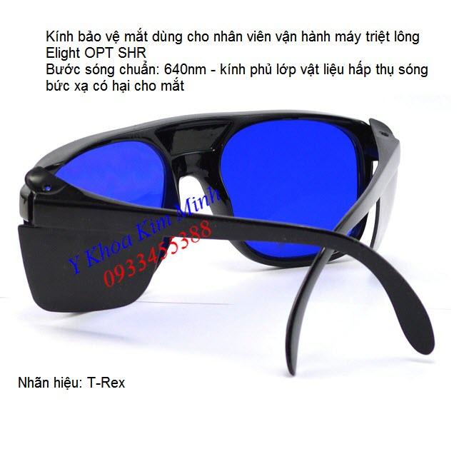 Kinh bao ve mat dung cho nhan vien van hanh may triet long Elight 640nm - Y Khoa Kim Minh 0933455388