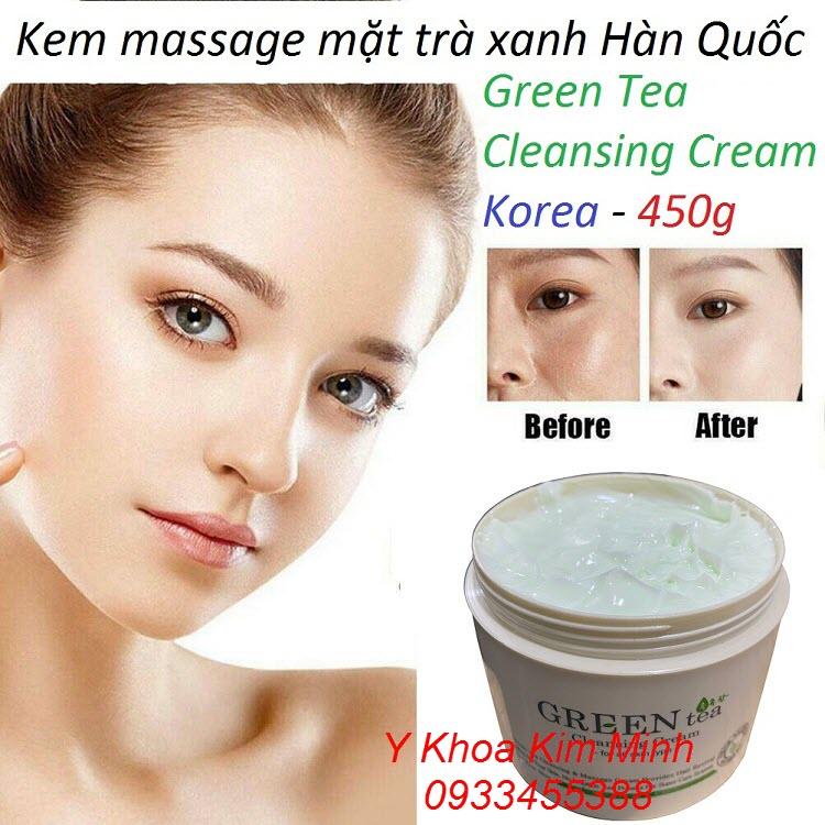 Green Tea Cleansing Cream, kem trà xanh dùng massage mặt nhập khẩu Hàn Quốc