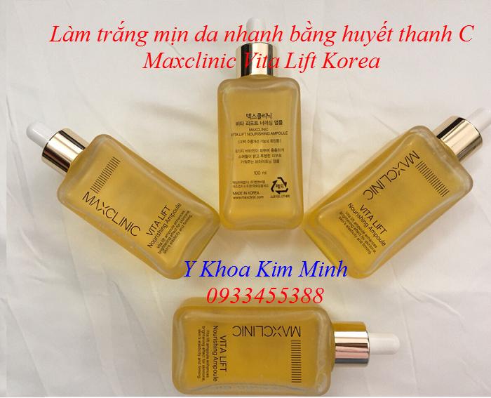 Làm trắng mịn da nhanh bằng huyết thanh C Vita Lift Maxclinic Hàn Quốc - Y Khoa kim Minh