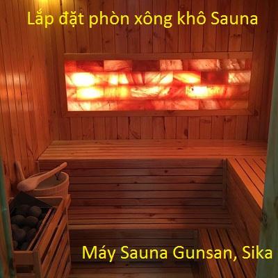 Thiết kế, sản xuất, lắp đặt phòng xông khô sauna máy xông Gunsan Hàn Quốc, Sika Nhật Bản bảo hành 5 năm - Y koa Kim Minh