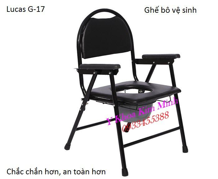 Lucas G-17 Patient Chair ghế ngồi vệ sinh người bệnh người già - Y Khoa Kim Minh