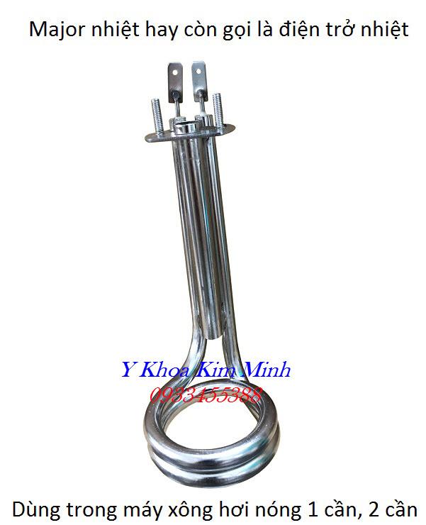 Major là cây điện trở trong bình nước của máy xông hơi nóng dùng trong thẩm mỹ spa - Y Khoa Kim Minh