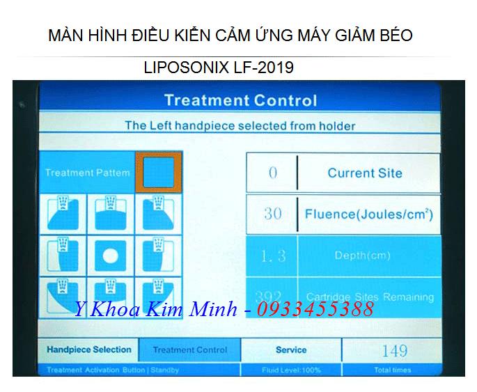 Màn hình cảm ứng điều khiển máy giảm béo Liposonix LF-2019 - Y khoa Kim Minh 0933455388